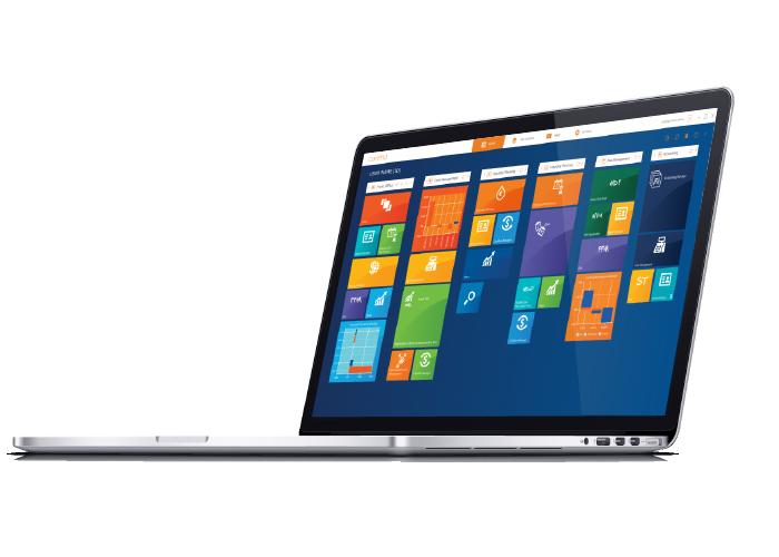 corima platform on laptop