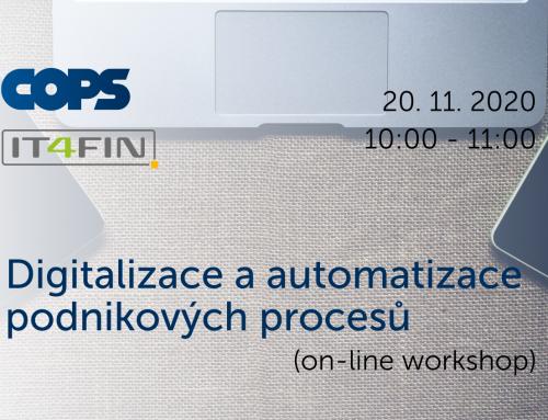 Digitalizace a automatizace podnikových procesů (workshop)
